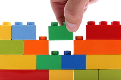 Building a wall from blocks